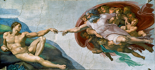 Figure 2: Michelangelo, Creation of Adam, c. 1511-1512.